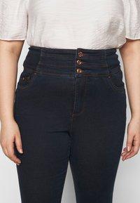 Simply Be - SHAPE SCULPT SUPER HIGH WAIST  - Jeans Skinny Fit - dark indigo - 4