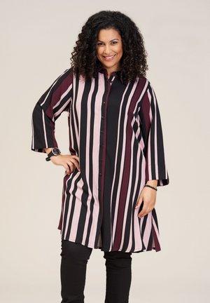 EMILIE - Overhemdblouse - blackslashbordeaux stripes
