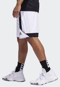 adidas Performance - CREATOR 365 SHORTS - Sports shorts - white/black - 2