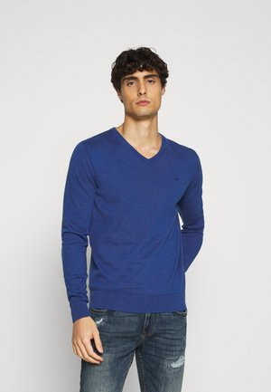 BASIC VNECK - Jumper - bright blue melange