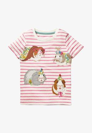 Print T-shirt - naturweiß/kirschblütenrosa
