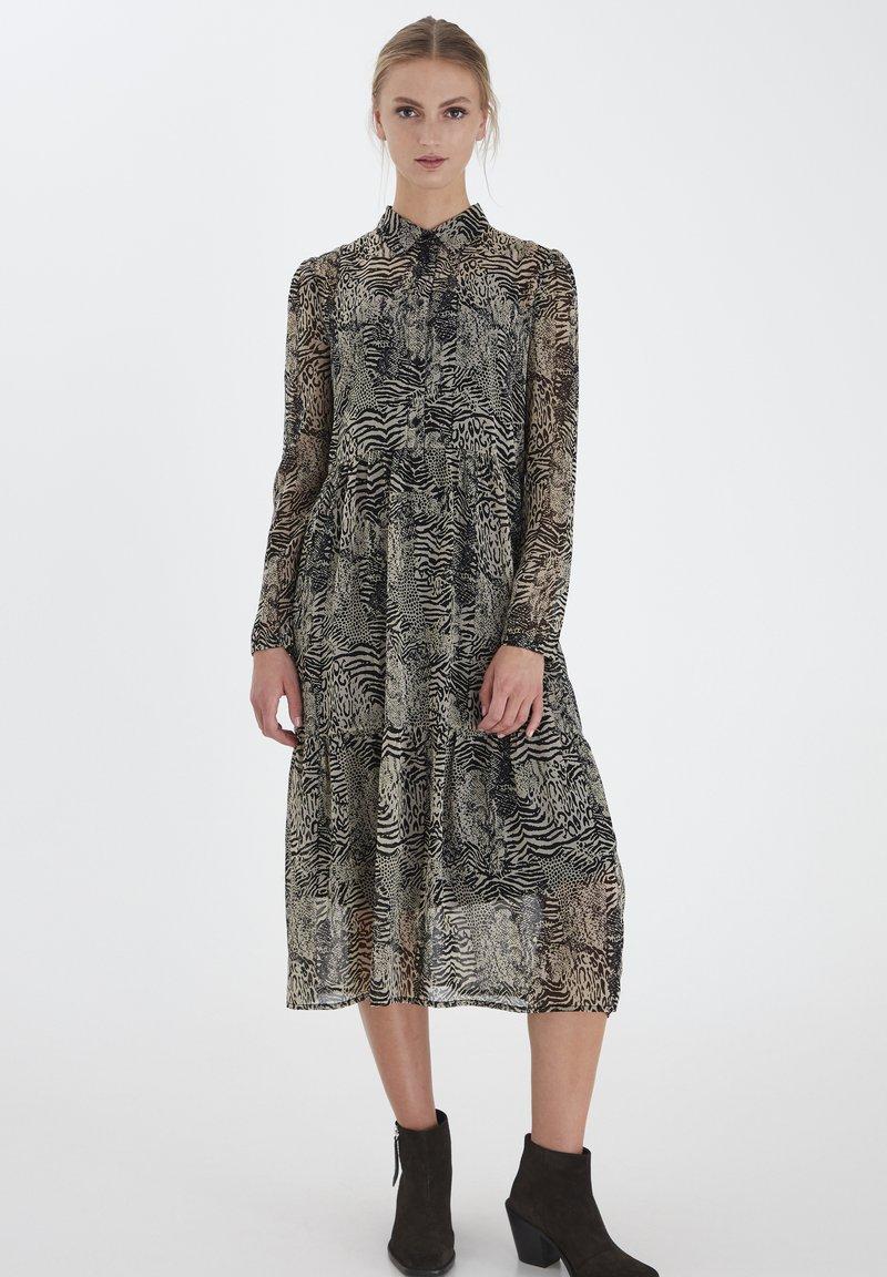 ICHI - IHASSIP DR - Shirt dress - oxford tan