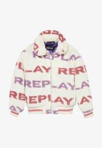 Replay - Chaqueta de invierno - white/light pink/purple - 3