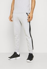 Lacoste Sport - PANT TAPERED - Tracksuit bottoms - silver chine/black - 0
