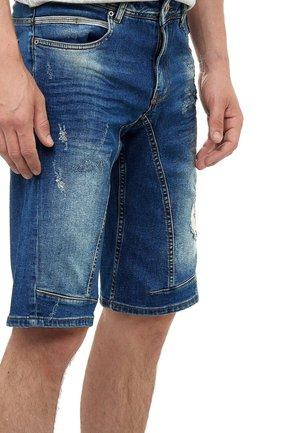 YAMETO - Denim shorts - blau
