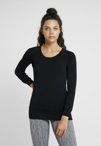 Curare Yogawear - BOAT NECK - T-shirt à manches longues - black - 0