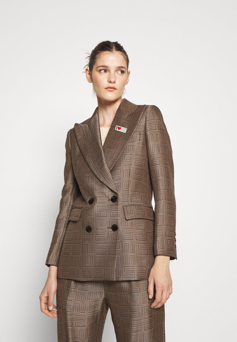 sandro - Short coat - marron/noir