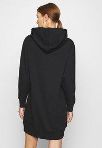 Calvin Klein Jeans - GRID LOGO HOODED DRESS - Day dress - black - 2