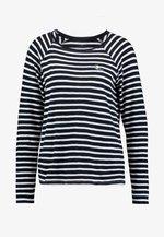 SLUB CREW NECK - Long sleeved top - navy blue