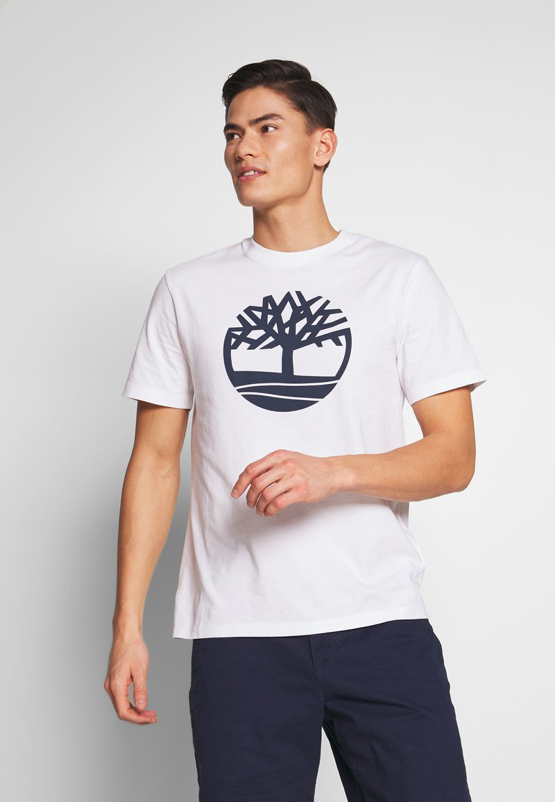 Timberland - KENNEBEC - T-shirt z nadrukiem - white