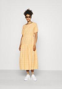 YAS - YASSTURI ANKLE DRESS - Day dress - tan - 1