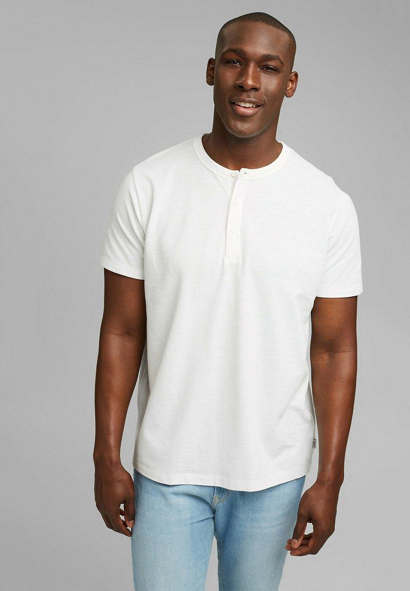Esprit - PIQUE - Basic T-shirt - off white