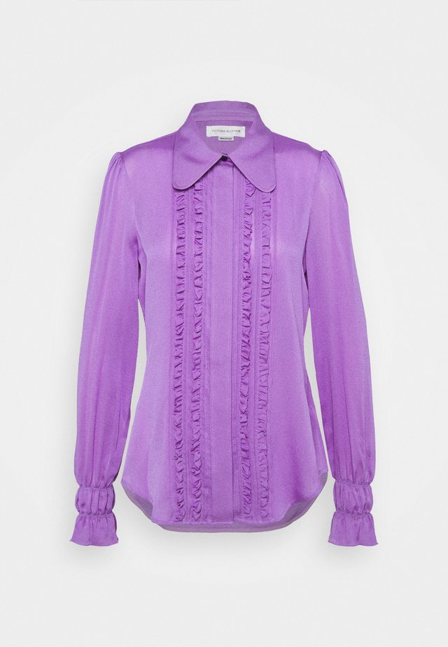 FRILL DETAIL BLOUSE - Overhemdblouse - purple