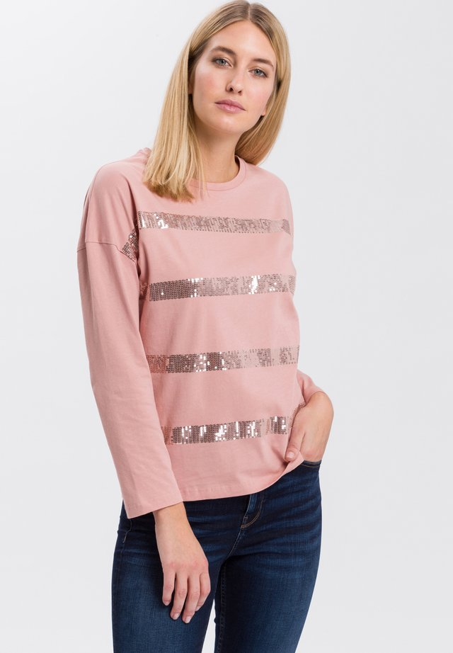MIT ARM - Long sleeved top - dark-rosé
