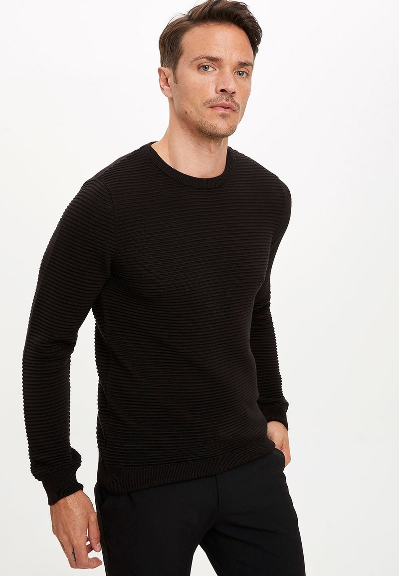 DeFacto - JUMPER - Strickpullover - black