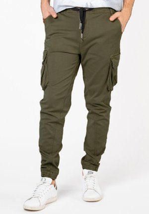 Cargo trousers - olivegrün