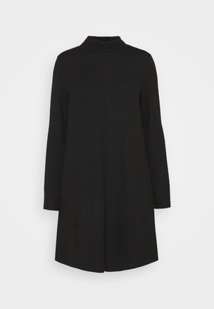 MOCK NECK DRESS OTTOMAN - Pletené šaty - true black