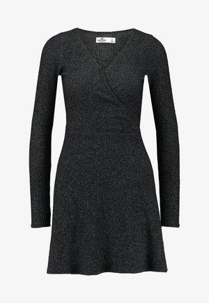 ASYM BRUSH DRESS - Žerzejové šaty - dark grey