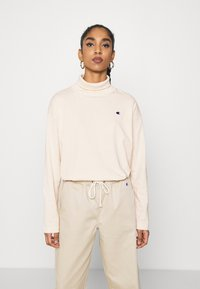 Champion Reverse Weave - HIGH NECK - Long sleeved top - beige - 0