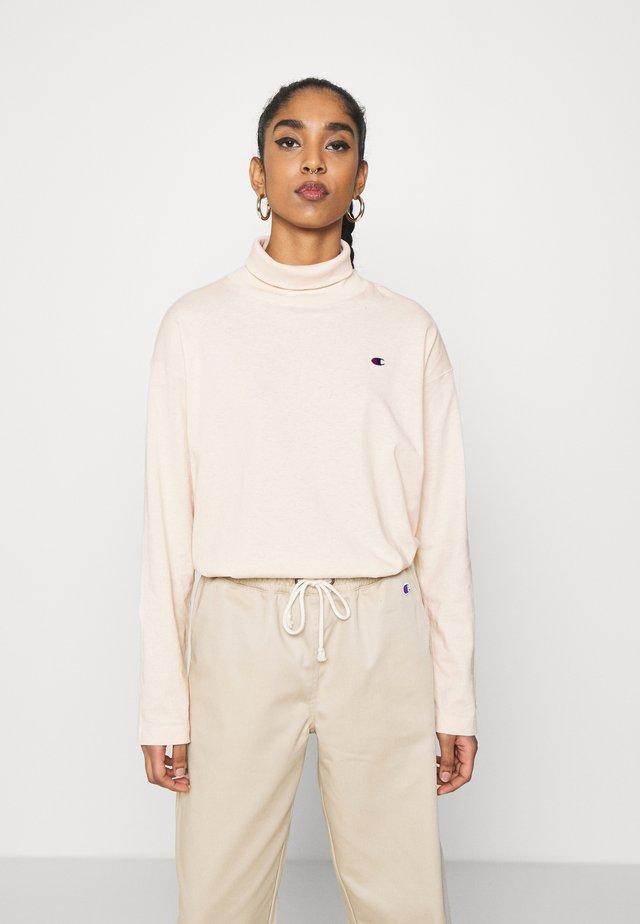 HIGH NECK - Maglietta a manica lunga - beige