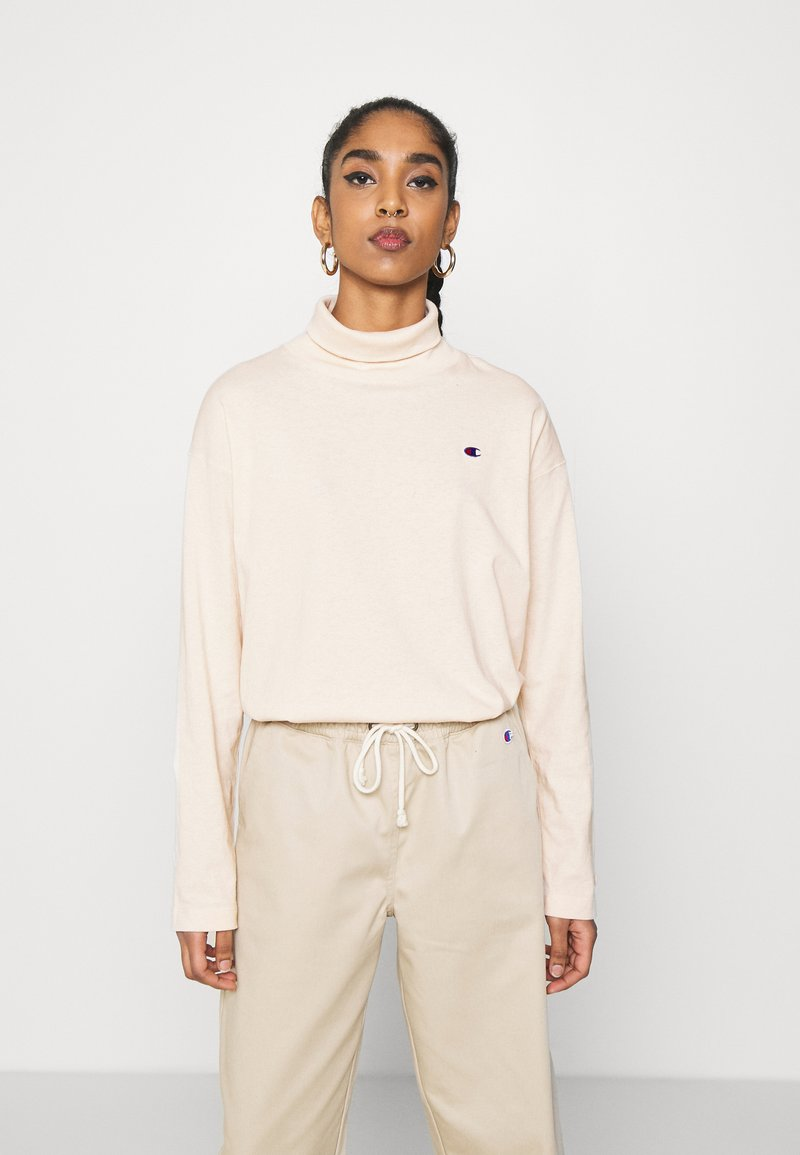 Champion Reverse Weave - HIGH NECK - Long sleeved top - beige
