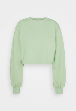 VOLUME SLEEVE CROP - Sweatshirt - green