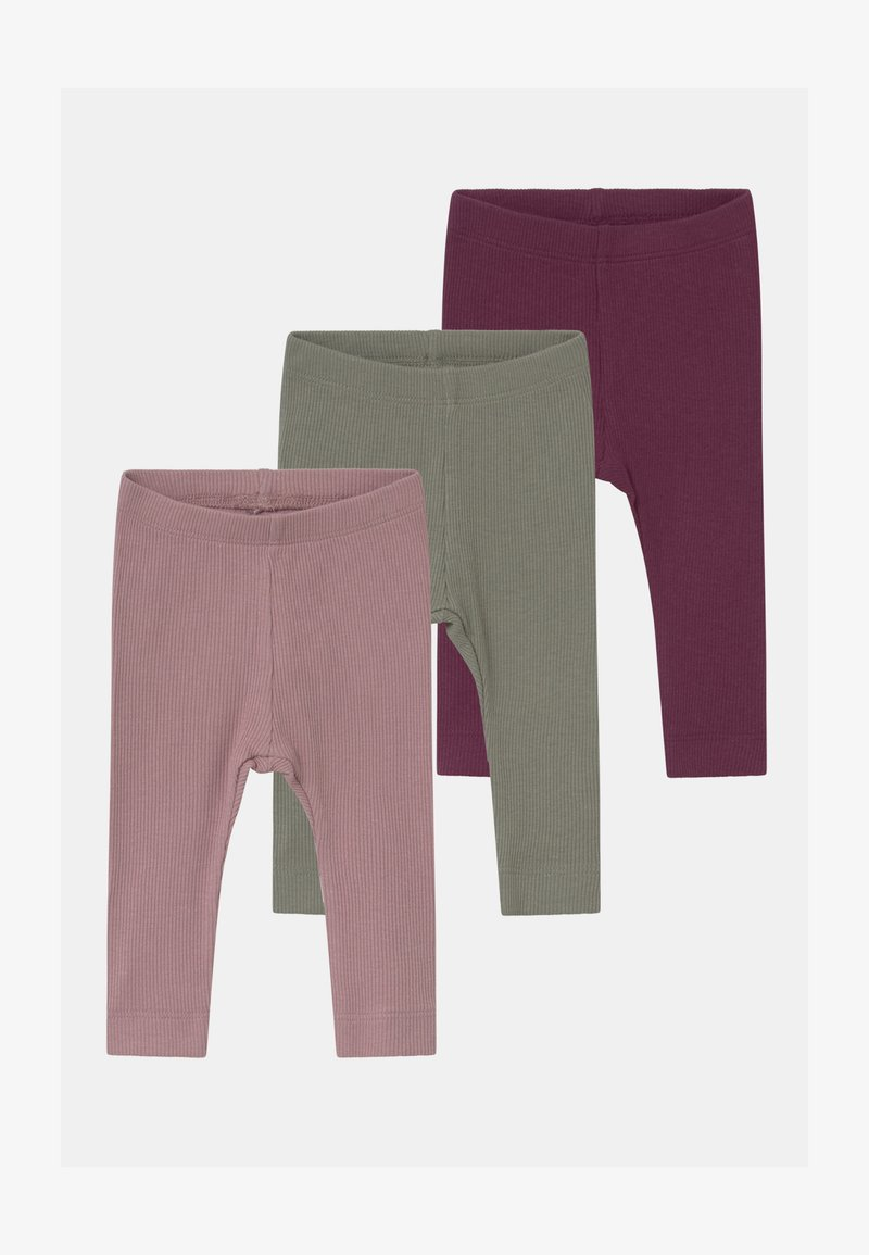 Name it - NBFROSEMARIE 3 PACK - Legging - shadow/italian plum/deauville