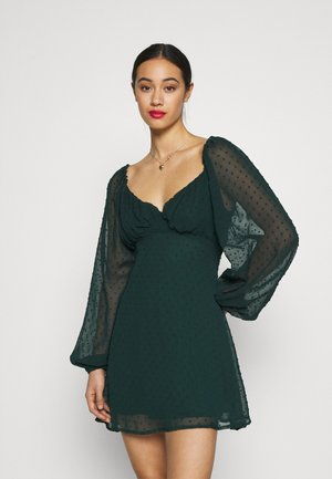 MILKMAID SKATER DRES DOBBY - Day dress - dark green