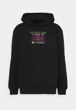 FRONT BACK SLEEVE GRAPHIC HOODY UNISEX - Sweatshirt - black