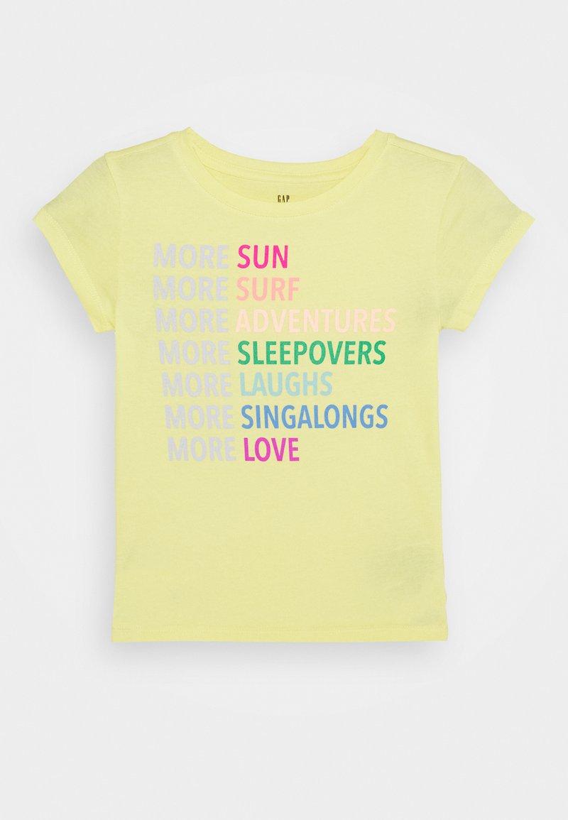 GAP - GIRLS - Triko spotiskem - yellow sun