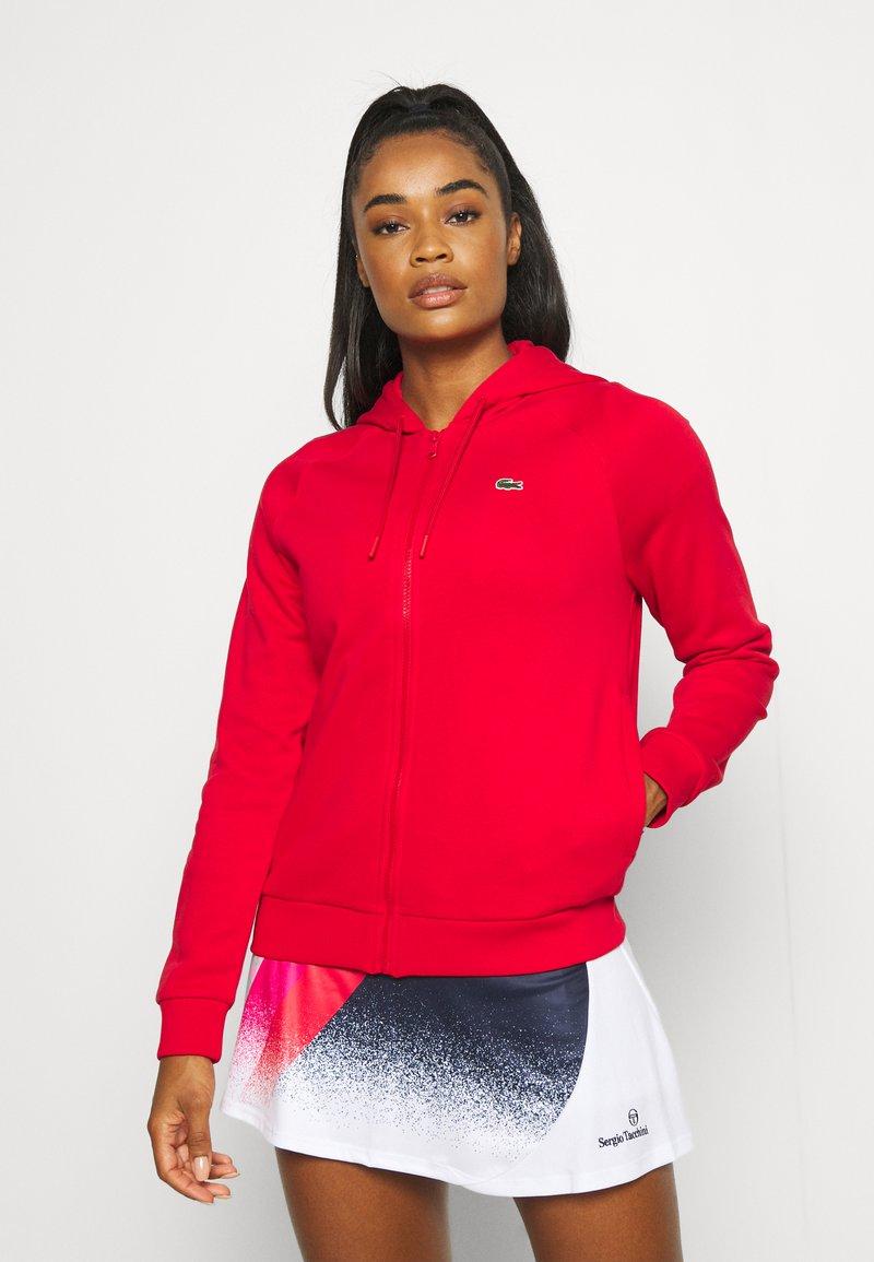 Lacoste Sport - HOOD JACKET - Zip-up sweatshirt - rouge