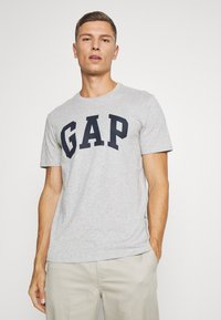 GAP - BASIC LOGO - Print T-shirt - light heather grey - 0