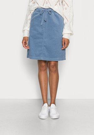 SKIRT JOGGING STYLE ELASTIC WAIST FRENCH POCKETS SHORT - A-line skirt - fall sky