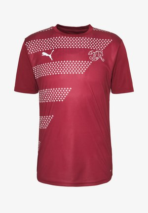 SCHWEIZ SFV STADIUM - National team wear - pomegranate