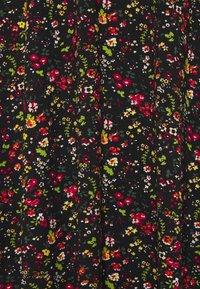 Dorothy Perkins Curve - SHIRRED NECK MIDI FLORAL - Day dress - black - 2