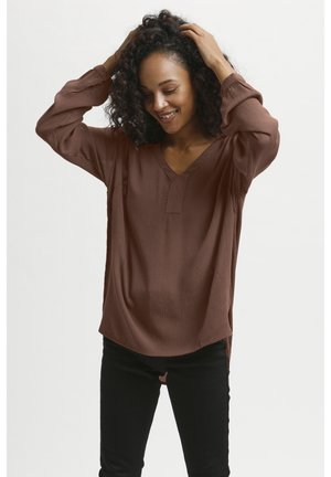 AMBER BLOUSE - Blouse - russet
