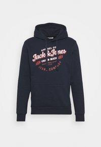 Jack & Jones - JJDENIM LOGO HOOD - Sweatshirt - navy blazer - 4