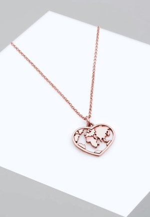 HEART MAP - Necklace - rose gold-coloured