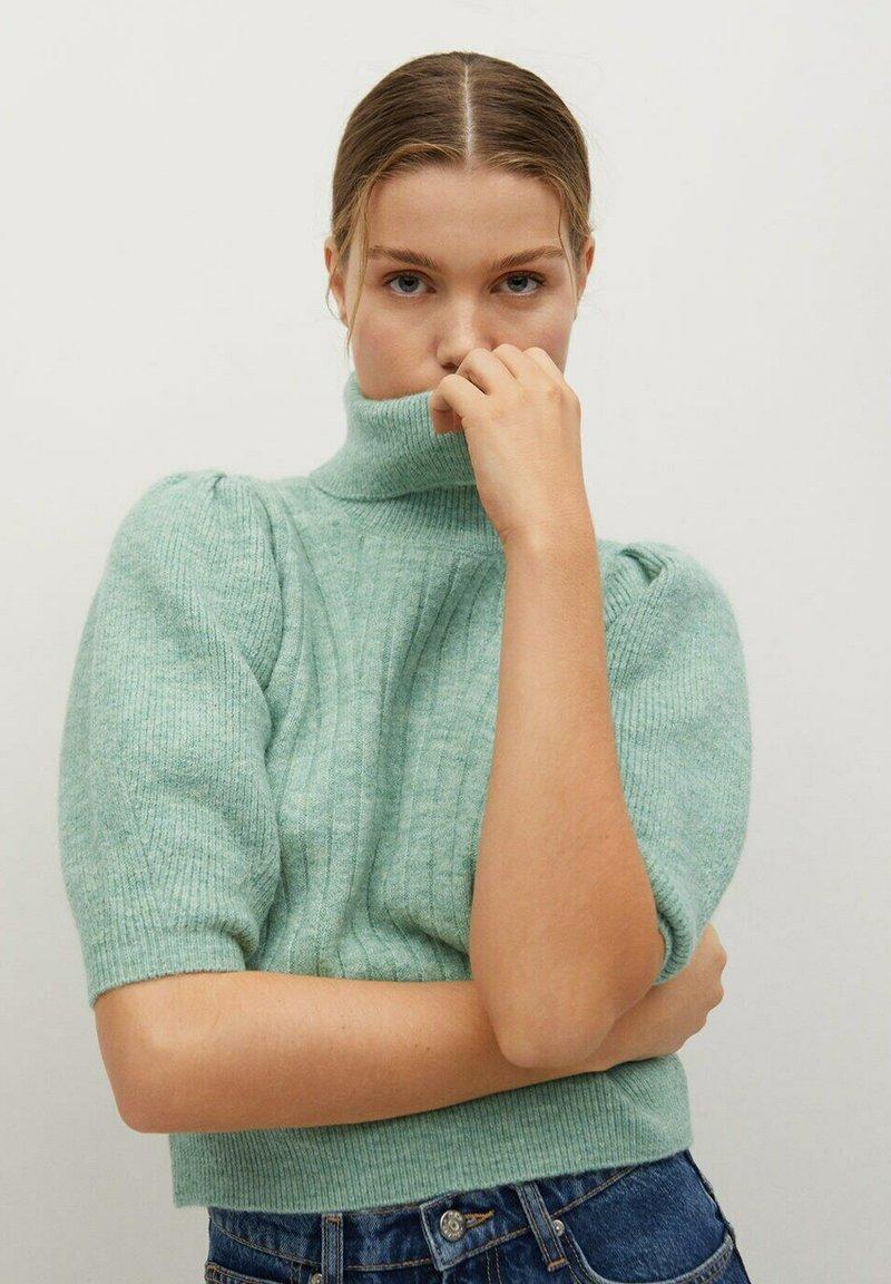 Mango - HERA - Basic T-shirt - smaragdgroen