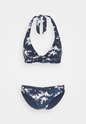 HALT SET - Bikini - mood indigo/aqua ditsy