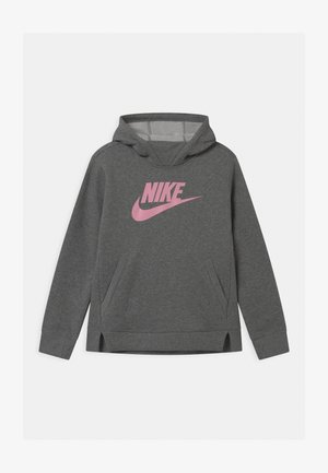 Hoodie - carbon heather/pink