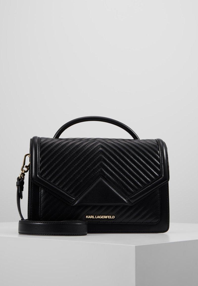 KARL LAGERFELD - KLASSIK QUILTED SHOULDER BAG - Handbag - black