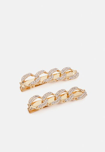 PCPANZA HAIRCLIP 2 PACK - Hair Styling Accessory - gold color