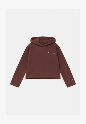 ROCHESTER LOGO HOODED UNISEX - Bluza z kapturem - brown