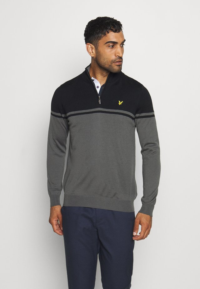 CROFT 1/4 ZIP - Neule - rock grey