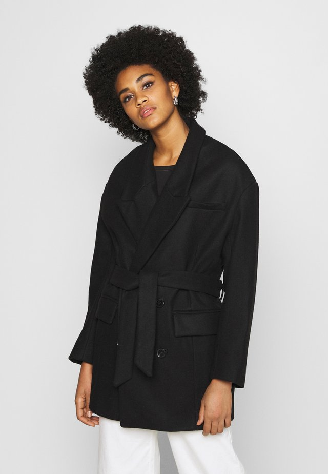 JOSEFA COAT - Płaszcz wełniany /Płaszcz klasyczny - schwarz
