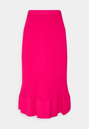 LARISSA SOLID PLEAT SKIRT - A-line skirt - pomegranate