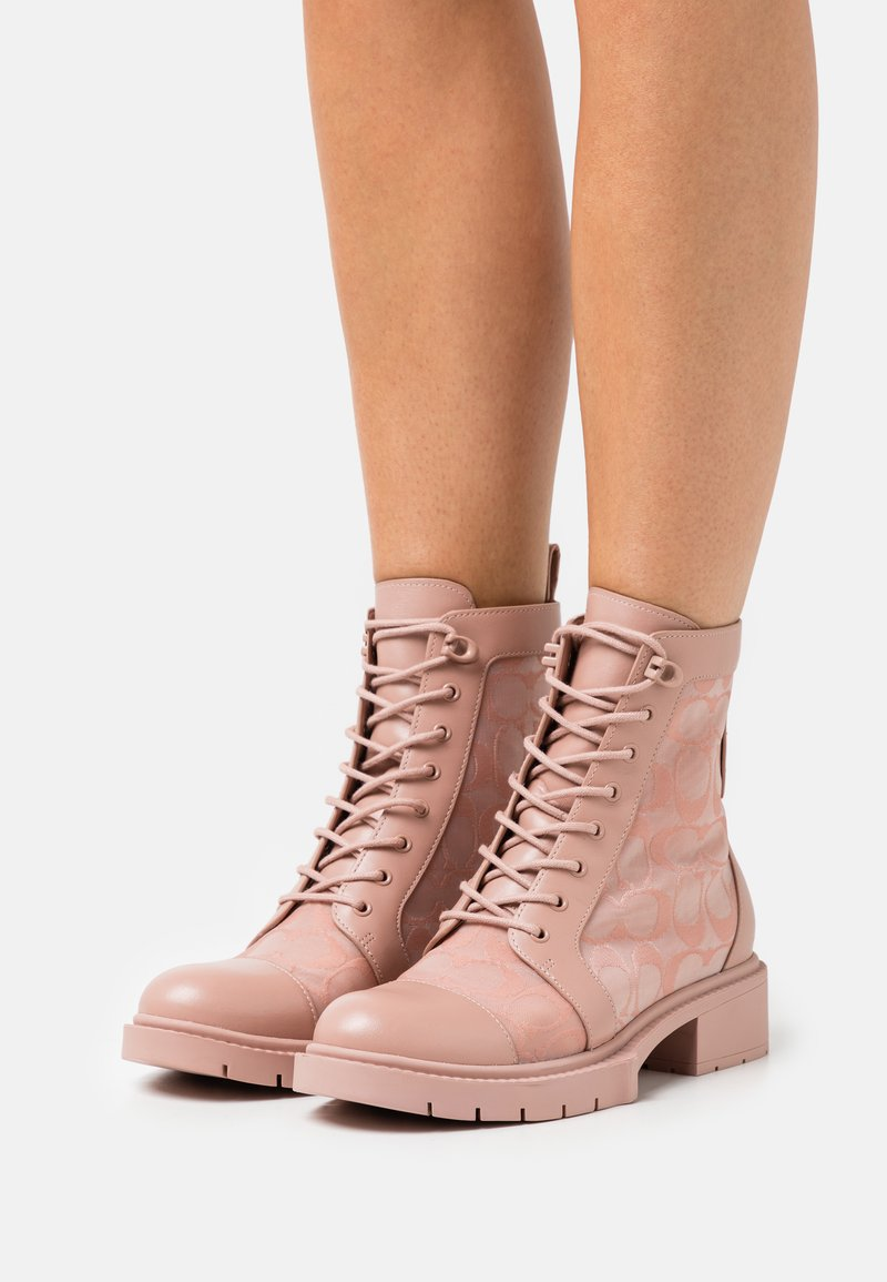 Coach - LANA BOOTIE - Lace-up ankle boots - dusty rose