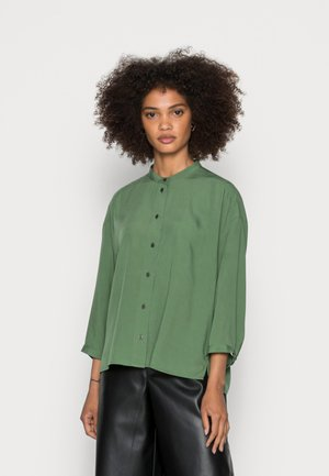 BLOUSE STAND UP COLLAR BUTTON THROUGH - Blouse - meadow grass