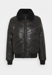 Schott - DOWN - Leather jacket - black - 0